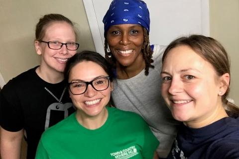 Volunteers Selfie at ARC